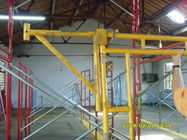 Çin Heavy Duty Scaffolding Frames With Powder Coated Side Brackets 1524x1524xΦ42x2.3mm Fabrika