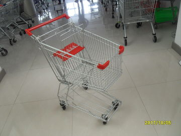 Çin Zinc Plating Powder Coating Grocery Shopping Cart With Anti UV Handle 100L Fabrika